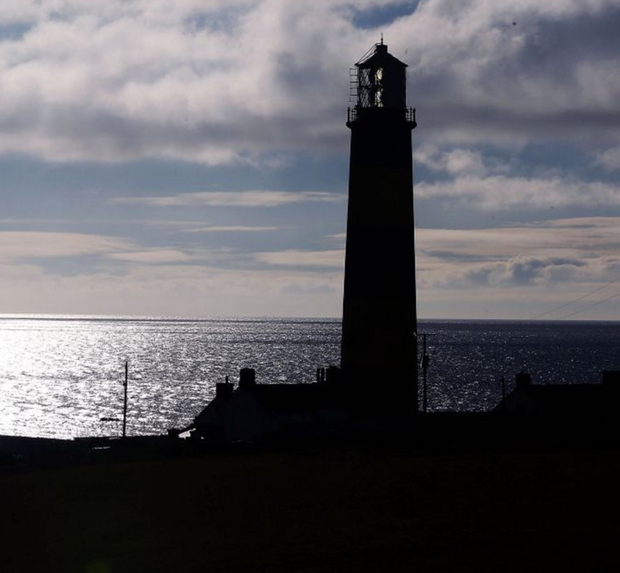 The lighthouse at St John's Point in Killough on the Co Down coast