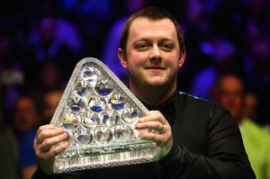Proud: Mark Allen also paid tribute to his friend Brown after Welsh Open victory