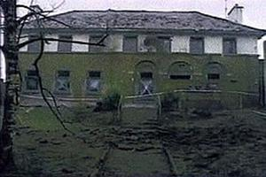Fintona RUC station after the blast in 1993 which ended the IRA's annual Christmas truce