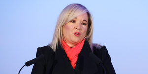 Issue: Sinn Fein's Michelle O'Neill said the party's priority was saving lives