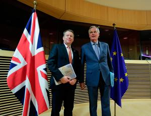 David Frost with Michel Barnier