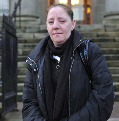 Heather Gibson outside Omagh courthouse