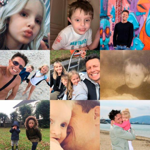 The final message posted on social media by Stephen Clements was this montage of family pictures
