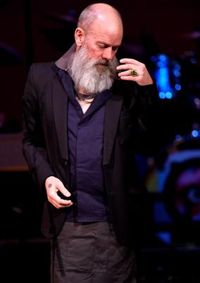 Cyndi Lauper, Debbie Harry, former REM singer Michael Stipe (pictured) and Wayne Coyne and The Flaming Lips were among the performers at The Music of David Bowie at Carnegie Hall in New York