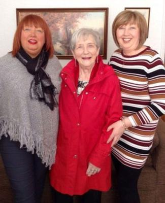Ruth Burke with daughters Jennifer (left) and Brenda