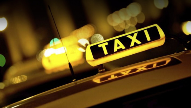A taxi driver is accused of using his car to raid supermarkets.