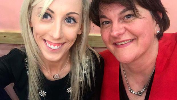 The Twitter photograph of Carla Lockhart with Arlene Foster