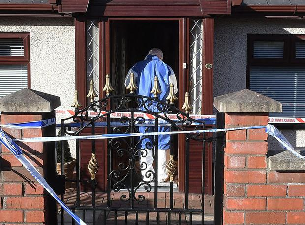 PSNI forensic expert at the house where Ms O'Neill was found dead in 2017