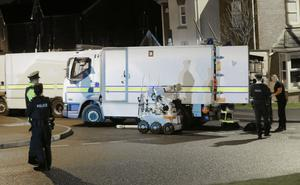 Police at the scene of a security alert in the Millreagh Avenue area of Dundonald