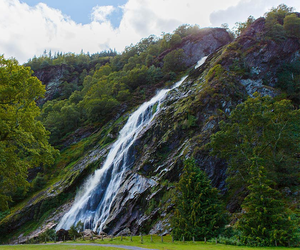 Powerscourt Waterfall in Co Wicklow, where 15-year-old Lewis Fleming from Ballymoney died