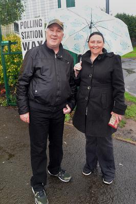 Gerald and Mary Lavery at Ashgrove Community Centre in Portadown