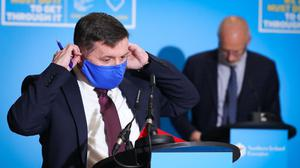 The number meeting outdoors and indoors has been slashed after fresh pandemic restrictions were imposed in Northern Ireland, health minister Robin Swann said (Kelvin Boyes/Press Eye/PA).