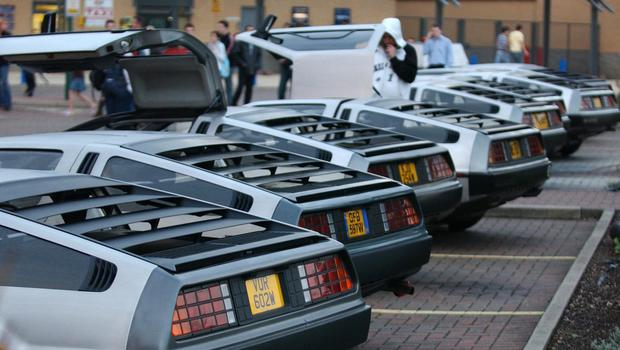 The DeLorean's silver gull-wing door design was immortalised by the 1985 Hollywood film Back To The Future