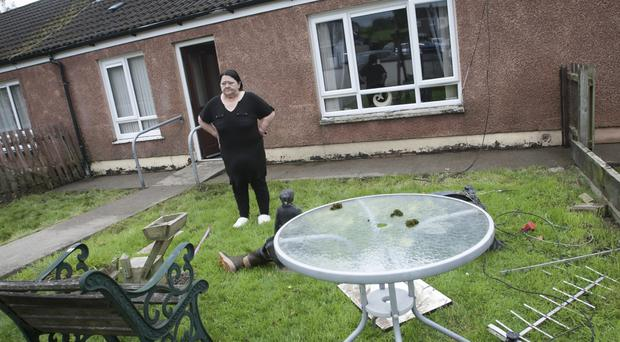 Rosemary Waring after her house in Sion Mills was flooded