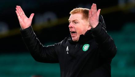 Tough time: Neil Lennon managing Celtic during his last season at the club. Credit: Andrew Milligan