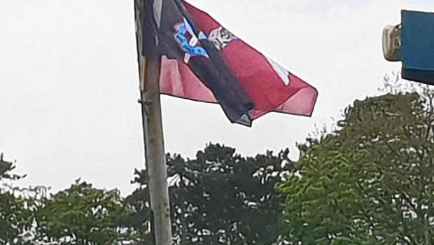 An SAS flag flying in Loughgall