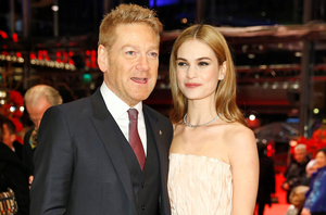 Actress Lily James with director Sir Kenneth Branagh