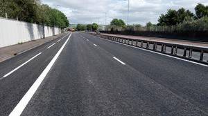 The resurfaced Sydenham Bypass and cycle lane