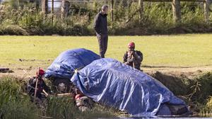 Car containing human remains is recovered from the River Bann