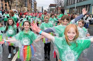 St Patrick's Day parade in Belfast city centre