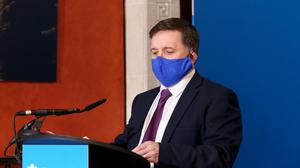 Robin Swann is to recommend tightening coronavirus restrictions when the Executive meets later (Kelvin Boyes/Press Eye/PA)