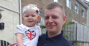 James Bate and daughter Lily-Pearl