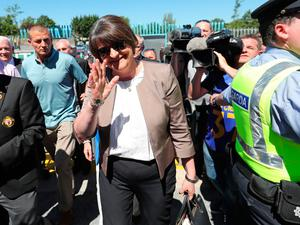 DUP leader Arlene Foster at the Ulster final between Fermanagh and Donegal