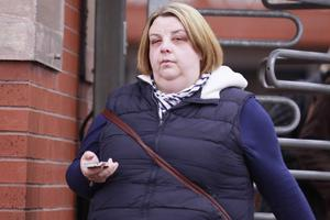 Emma King leaves court yesterday