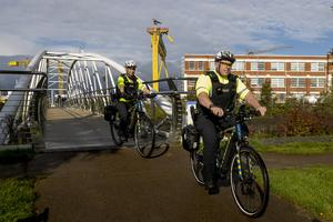 The bikes will be evaluated by officers in East Belfast, Newtownabbey, Bangor and Londonderry (Liam McBurney/PA).