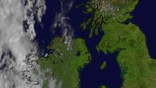 Handout satellite image issued by the Met office showing the UK (Met Office/PA)