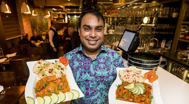 Luthfur Ahmed of Bengal Brasserie in south Belfast (Liam McBurney/PA)
