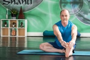 Yoga instructor John Bell who is providing classes online