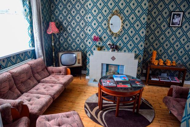 1960s style living room at George Best House