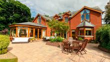 The house near Cultra offers a sun room with magnificent views of Belfast Lough