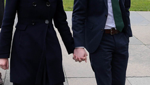 Daniel and Amy McArthur arrive at Laganside Court yesterday morning