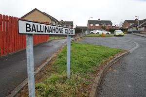 Police at the scene in Ballinahone Close in Armagh