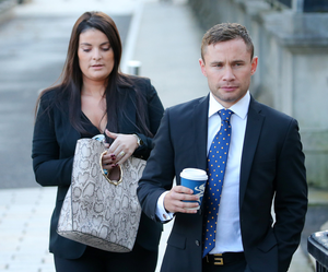 """Carl Frampton thank his """"extraordinary"""" wife Christine for her support."""