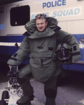 Irish immigrant Denis Mulcahy in his days with NYPD bomb squad