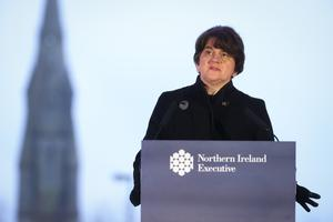 More than a quarter-of-a-million people have received their first vaccine, Arlene Foster has said (Kelvin Boyes/Press Eye/PA)