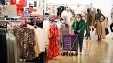 Shoppers inside CastleCourt after it reopened