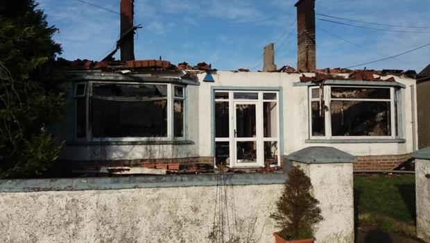 The house belonging to Andy and Laura Whitelaw, which was destroyed in a fire