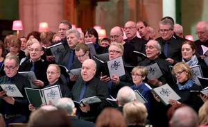 Members of the choir were in fine voice during Home-Start's Snowflake Appeal Carol Concert, which was held in St Anne's Cathedral, Belfast, last night