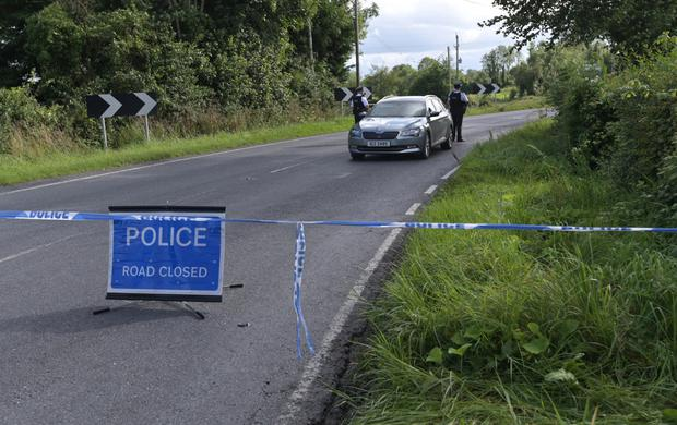 PSNI at the scene of the attack on the Cavan Road in Fermanagh