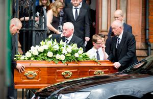The funeral of Rev Margaret Ferguson in east Belfast yesterday