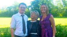 Yvonne with her children, Michael and Joanne