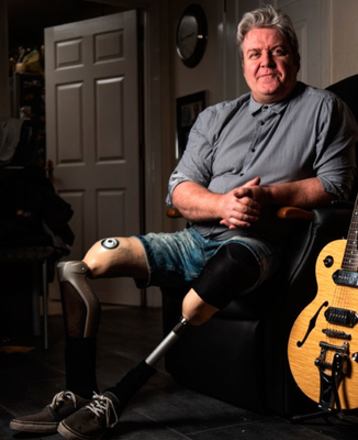Frustration: Mark Kelly lost his legs in a bombing in the 1970s