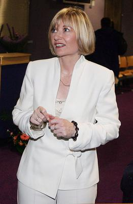 Martina Purdy in her reporting days for the BBC