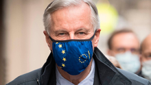 Michel Barnier in London yesterday