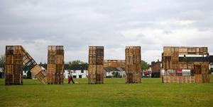 A loyalist bonfire cancelled because of Covid-19 has been turned into a giant tribute to the NHS