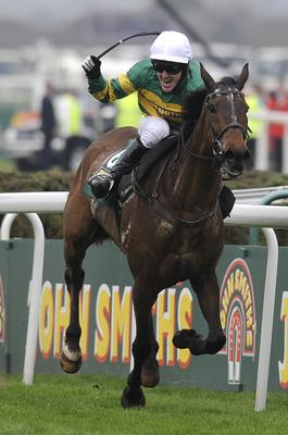 McCoy after winning the Grand National on Don't Push It